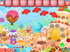 Jouer à Wow Candy land escape
