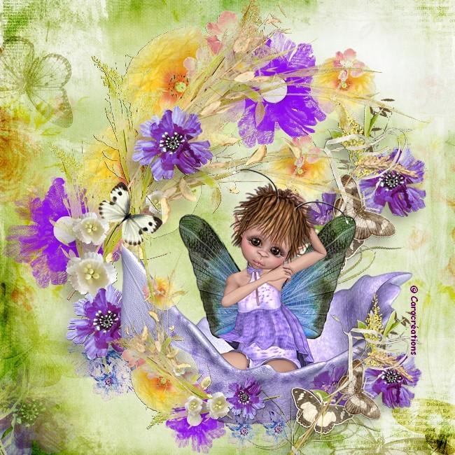 l elfe et les fleurs