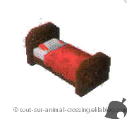 lit rouge simple - animal crossing DS