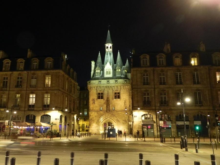 Noël à Bordeaux le soir