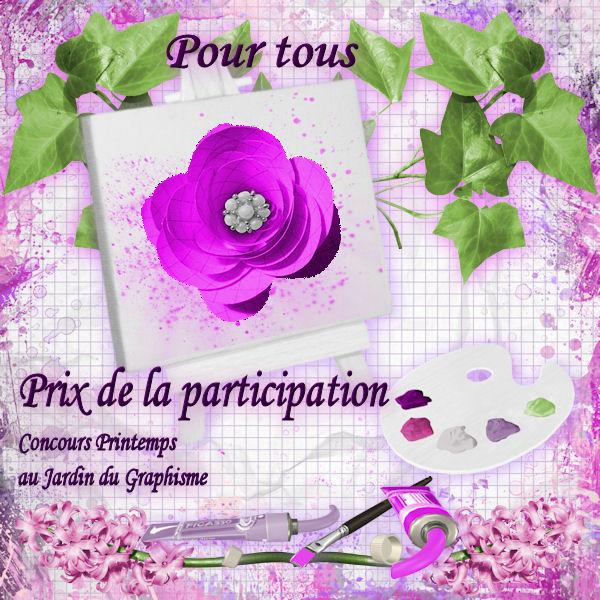 Récompense pour participation ...
