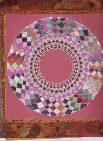Blog de mimipalitaf :mimimickeydumont : mes mandalas au compas, le même mandala qu'hier mais sans le sous-verre cette fois !