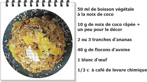 Bowl cake ananas-coco