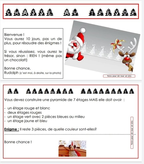 La chasseau trésor de Noël