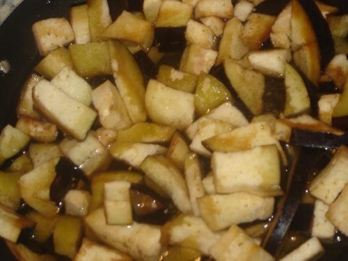 Pânés de blé/aubergine cachée/Poivron sucré