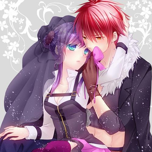 Image de anime, couple, and anime couple