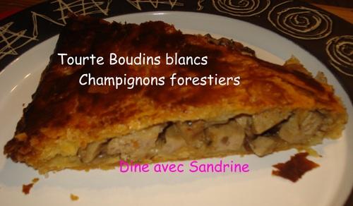 Un Cake au Boudin Blanc et Champignons