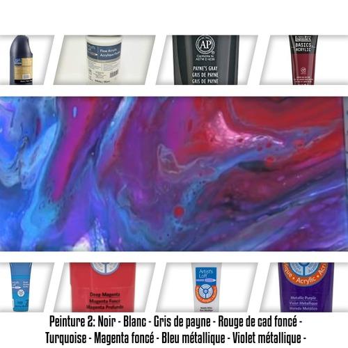 """Dessin et peinture - vidéo 3359 : Comment réaliser des peintures uniques avec le """"pouring méthode"""" ? - peinture acrylique abstraite."""