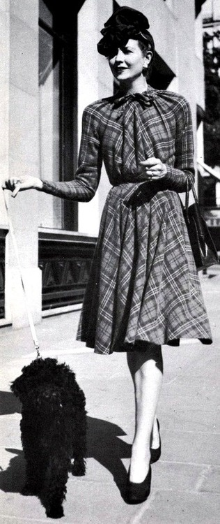 1942. - Dress by Jacques Fath