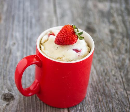 Mug Cake à la fraise