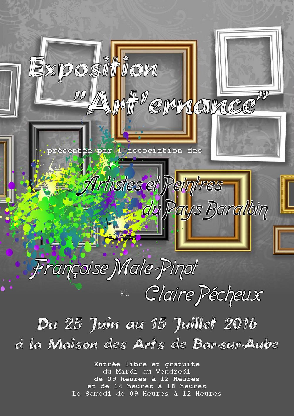 """""""Art'ernance"""" Quatrième Tour - Du 25 Juin au 13 Juillet 2016"""