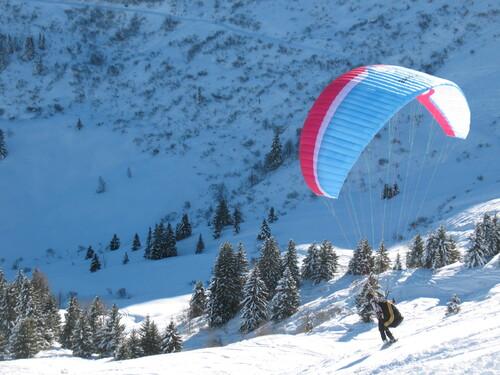 Vols et ski à Megève