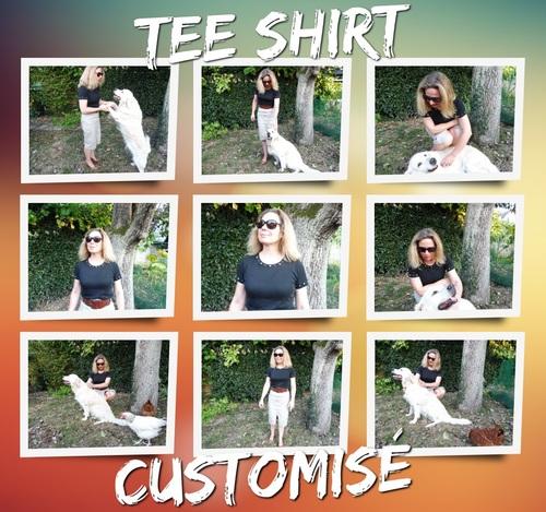 sylvie le brigant créatrice de bijoux et accessoires de mode : Customisation sur un tee shirt