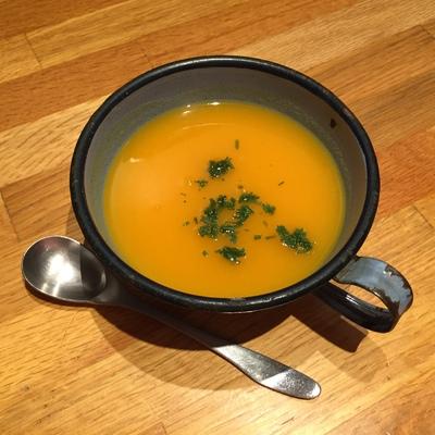 Soupe de potiron & jus d'orange