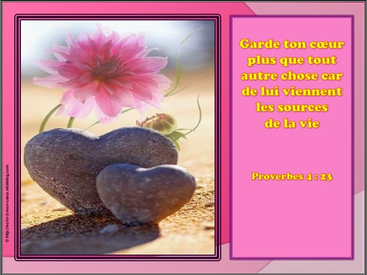 Garde ton coeur - Proverbes 4 : 23