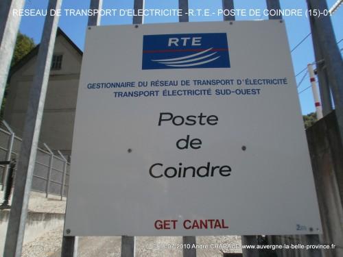 DEPART DU RESEAU DE TRANSPORT D'ELECTRICITE - RTE