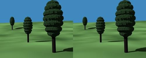 Arbres fait en copiant un objet sur les vertices d'un autre objet