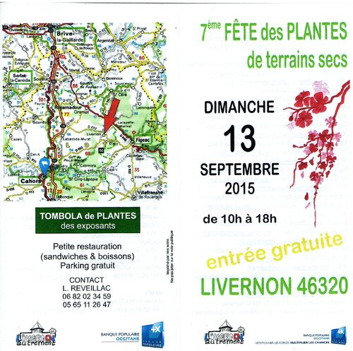 13 Septembre Fête des plantes à LIVERNON 46