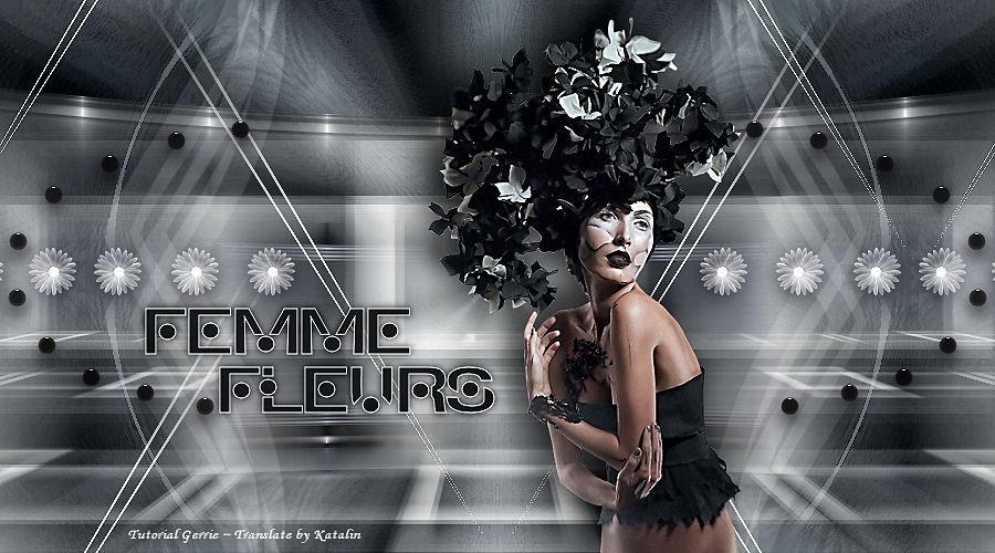 Tutorial PSP Magnifique ~ Femme Fleurs