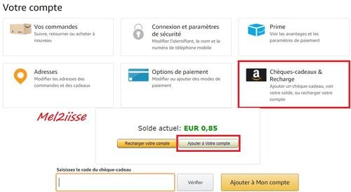 Cagnotte Amazon