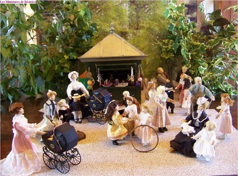 Les élégantes du Jardin du Luxembourg (4/4. Miniatures)