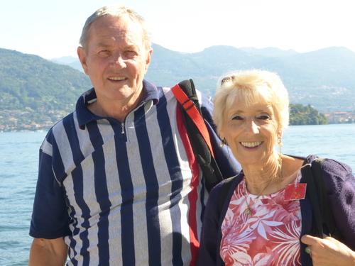 Jacqueline et les lacs Italiens fin
