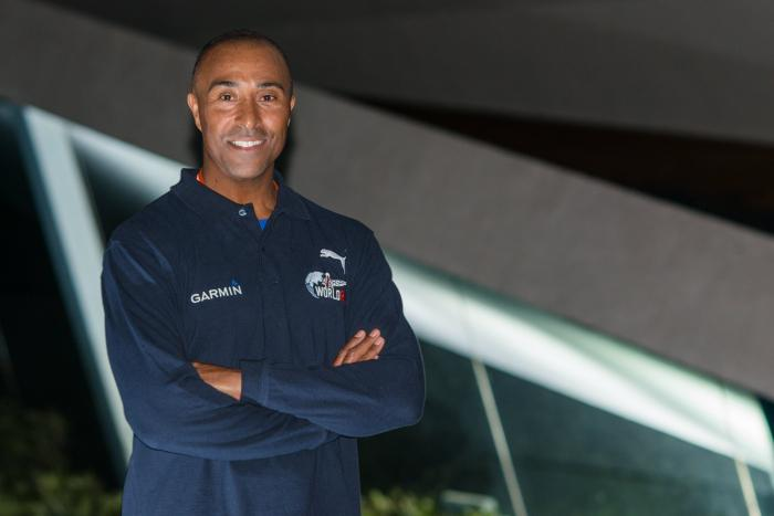 Colin Jackson,course à pied,catcher car,interview,Red Bull,distance,événement,Wings for Life World Run,Rouen,challenge