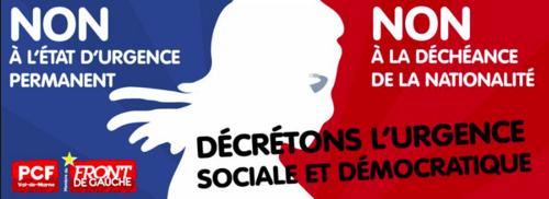 Assemblée citoyenne mardi 16 février 18h30 à Villejuif : L'état d'urgence en question