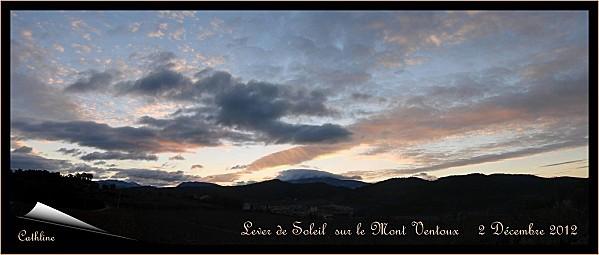 lever de soleil sur le ventoux 2 décembre 2012