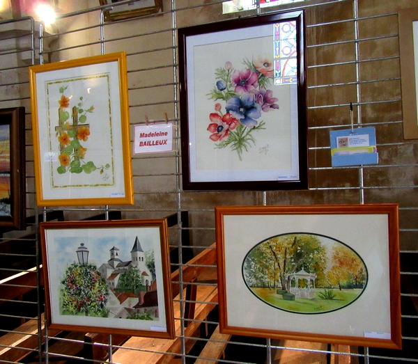 Les peintres des Amis du châtillonnais ont exposé leurs œuvres dans l'église d'Essarois