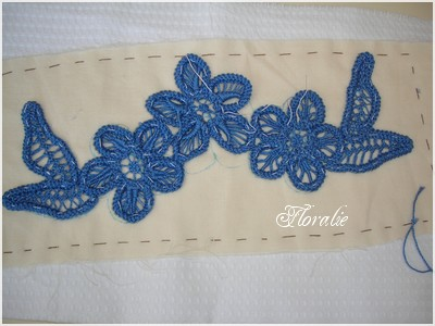 Marque page dentelle