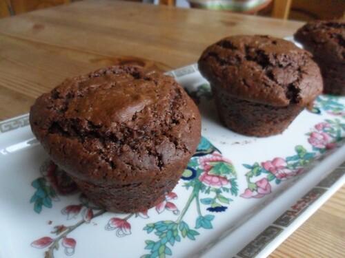 *** Muffins au chocolat et lait d'amandes ***