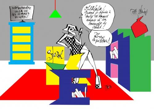 Ikea fait la danse du voile