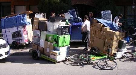 Travailleurs à vélo
