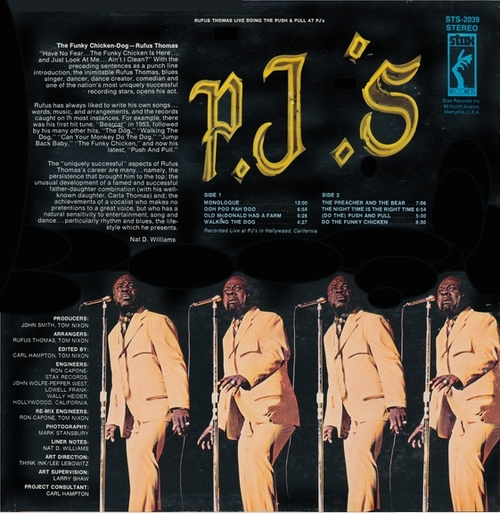 """Rufus Thomas : Album """" Live Doing The Push & Pull At P.J.'s  Stax Records STS-2039 [ US ]"""