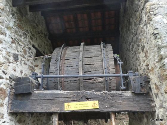Le tambour servant à l'enroulement du cable de traction des bennes