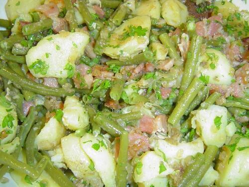 recette de la salade liègeoise