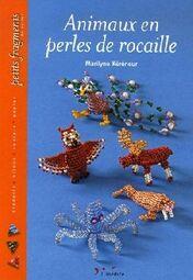 livres d'animaux en perle de rocaille