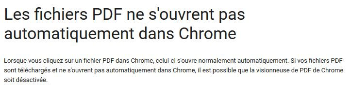 Pour google chrome