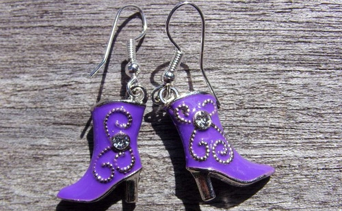 BO bottes country violettes