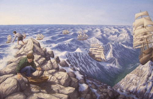 Peintre illusioniste ROB GONSALVES   -1-
