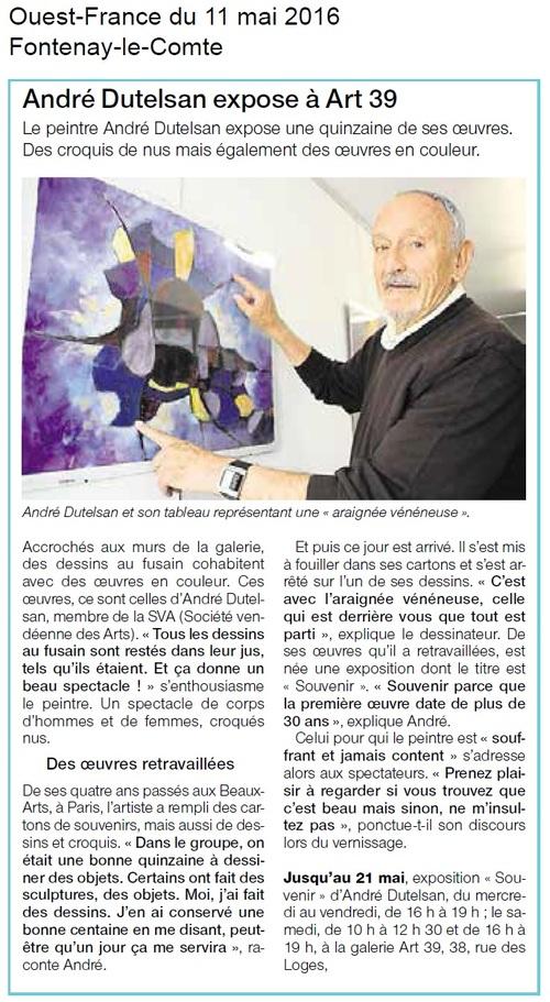 André DUTELSAN expose à ART 39