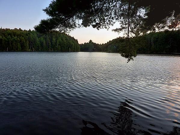 Mauricie lac soir