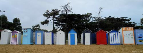 Cabanes sur l'île d'Oléron