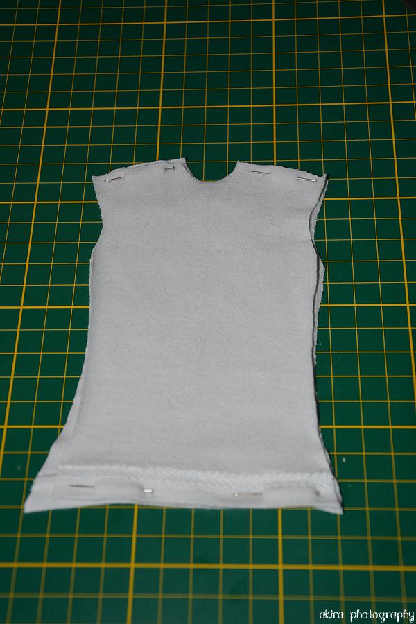 T-shirt gris clair 1/4