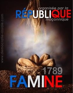 1789, famine et troublés organisés....