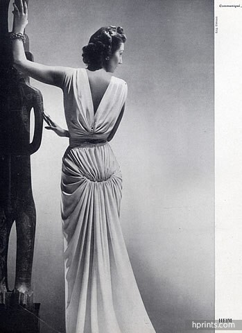 Jacques Fath 1941 Evening Gown, Photo Elshoud
