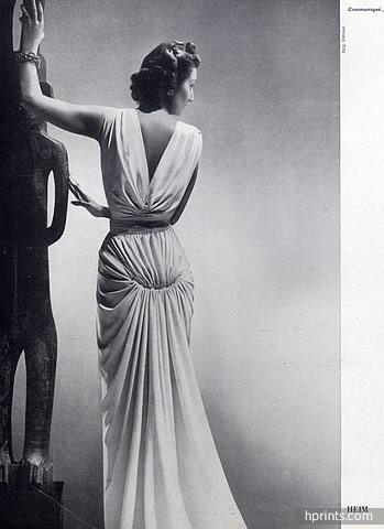 Jacques Fath 1941 Evening Gown, Photo Elshoud