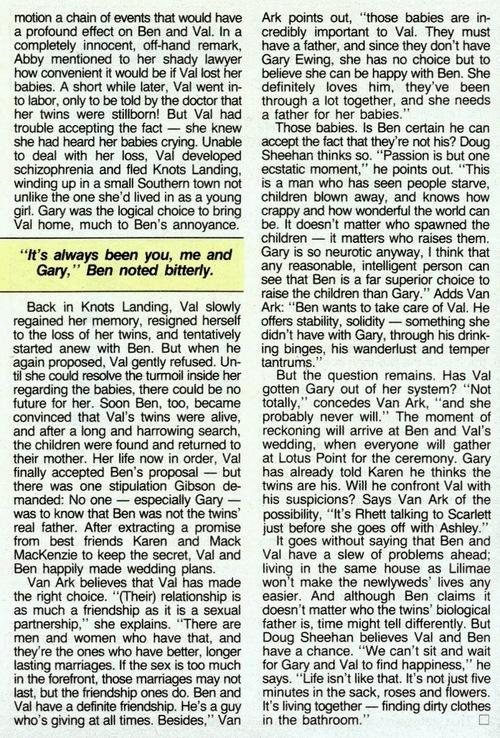 Soap Opera Digest du 3 12 1985