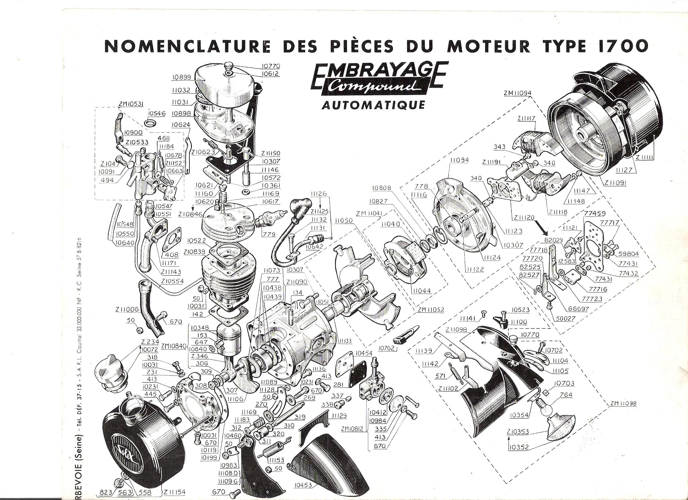 moteur de solex 1700